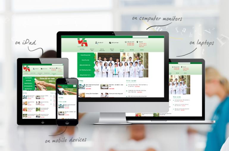 Thiết kế web bệnh viện, phòng khám, y tế