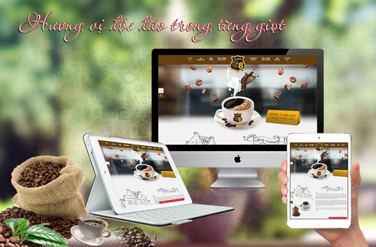 Thiết kế web cà phê, coffee
