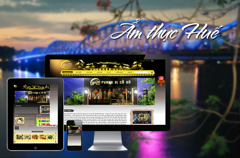 Thiết kế web nhà hàng, quán ăn